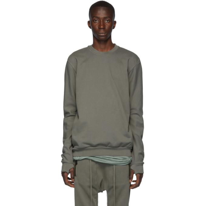 11 by Boris Bidjan Saberi Grey Panelled Sweatshirt