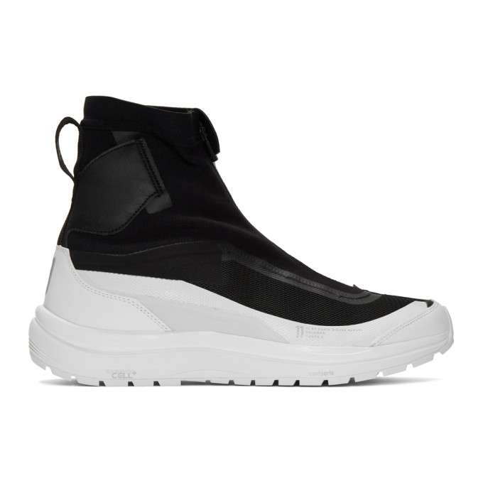 11 by Boris Bidjan Saberi Black and White Salomon Edition Bamba 2 High Top Sneakers