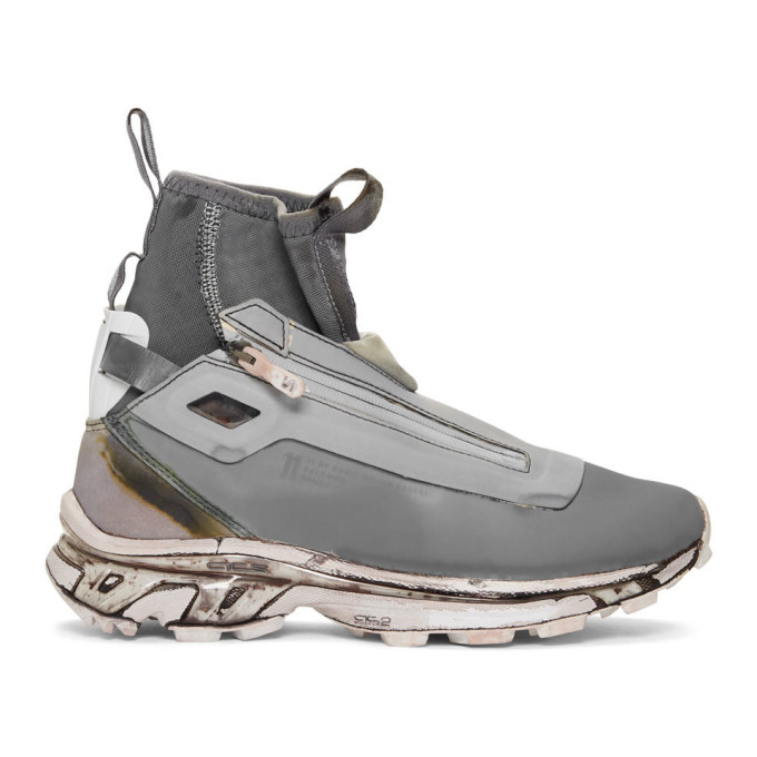 11 by Boris Bidjan Saberi Grey Salomon Edition Bamba 3 Sneakers