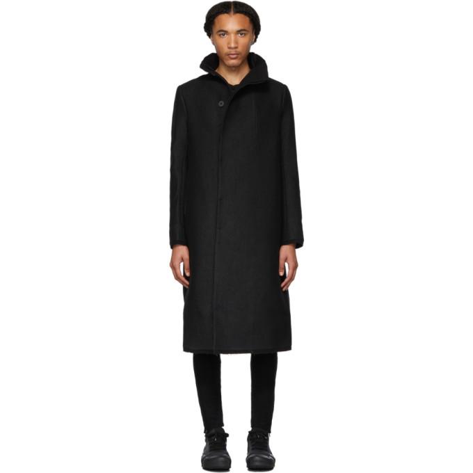 Boris Bidjan Saberi Manteau long en laine noir