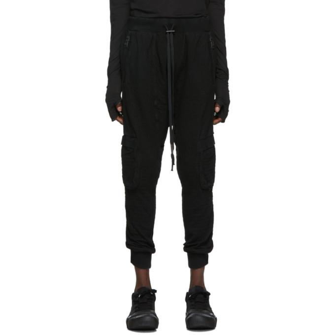 Boris Bidjan Saberi Pantalon de survetement noir Dyed