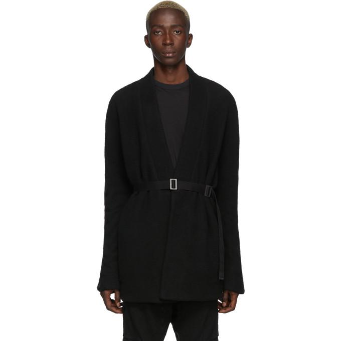 Boris Bidjan Saberi Cardigan en laine noir Short