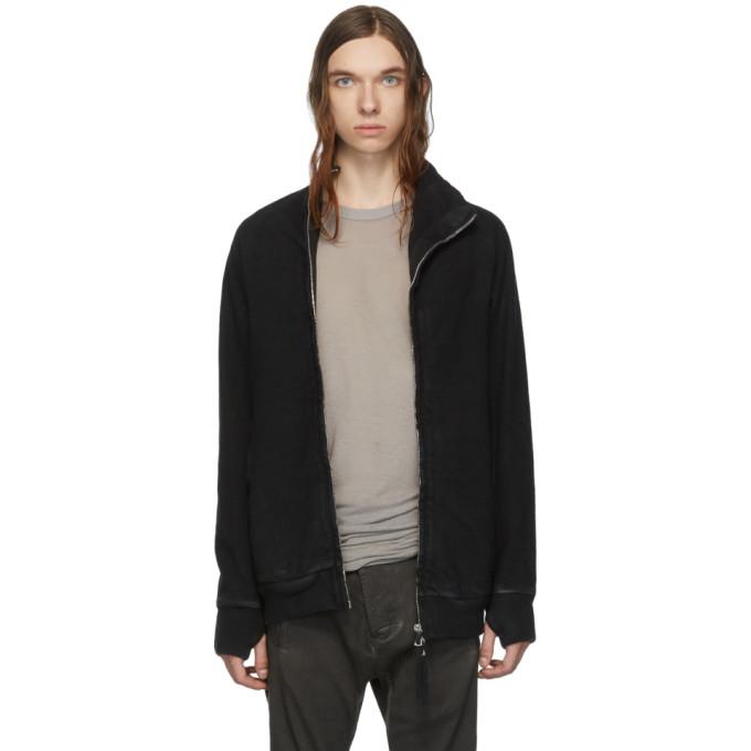 Boris Bidjan Saberi Black Double Dyed Zip-Up Jacket