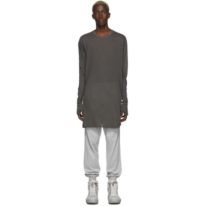 Boris Bidjan Saberi T-shirt a manches longues gris Dyed