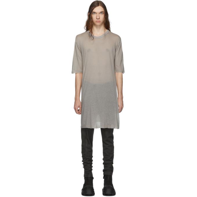 Boris Bidjan Saberi T-shirt gris Dyed