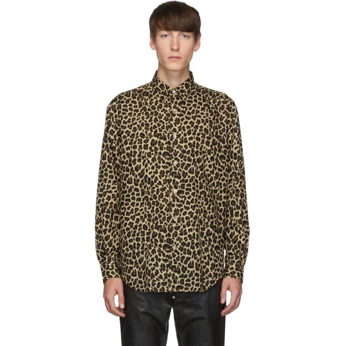 Johnlawrencesullivan Chemise a motif leopard beige et noire
