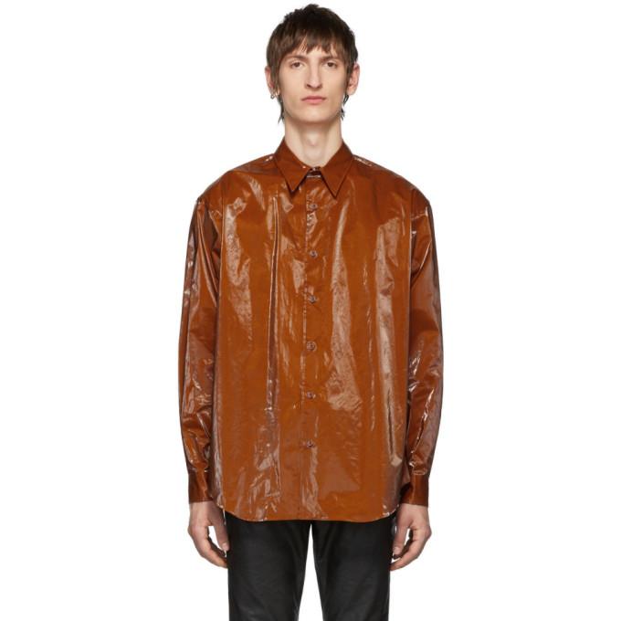 Johnlawrencesullivan Orange Coated Cotton Shirt