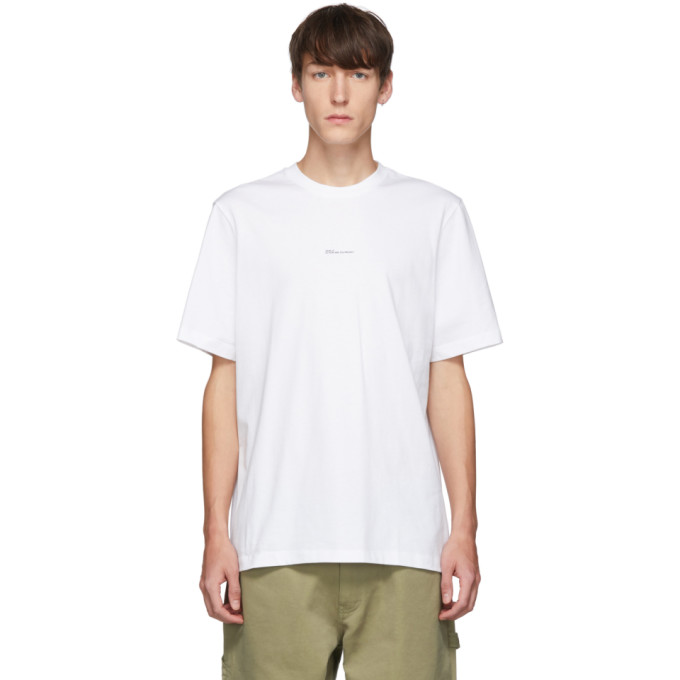 OAMC T-shirt blanc Hi How Are You