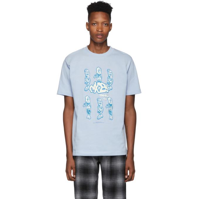 Eytys T-shirt bleu Smith edition Michiko Koshino