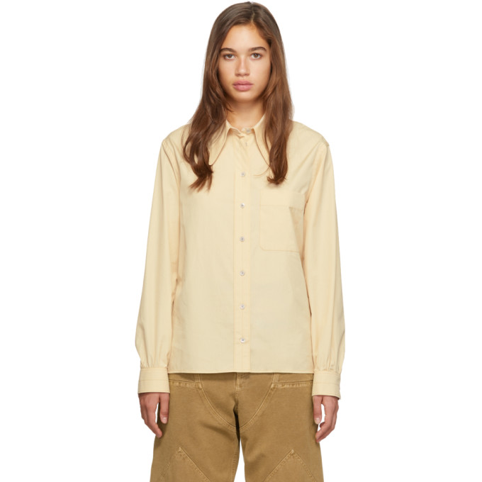 Lemaire Chemise jaune Pointed Collar