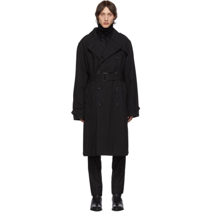 Lemaire ブラック ベルト トレンチ コート