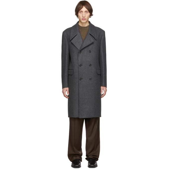 Lemaire Grey Long Coat