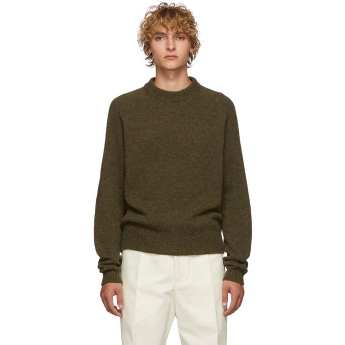 Lemaire Khaki Crewneck Sweater