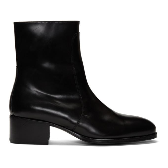 Lemaire Bottes chelsea en cuir noires
