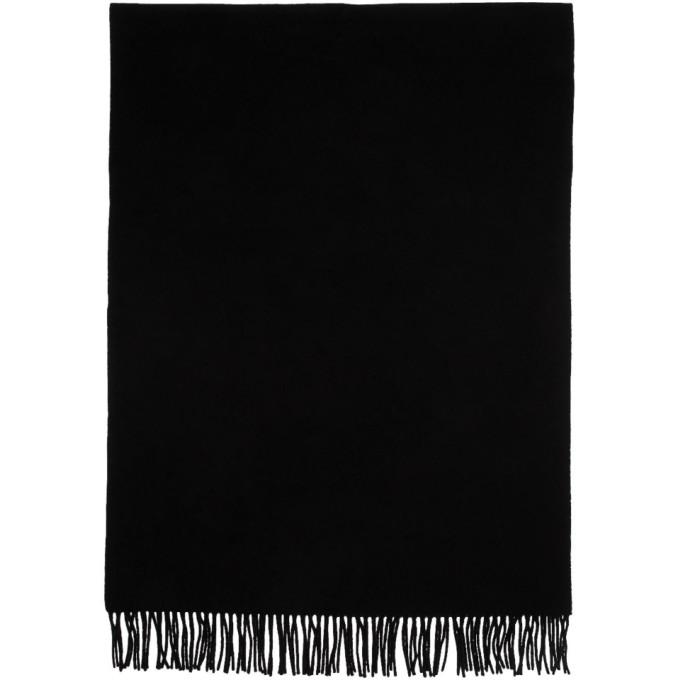 Etudes Foulard en laine noir Magnolia