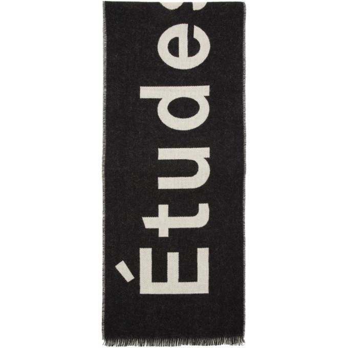Etudes Foulard noir et blanc casse Supporter