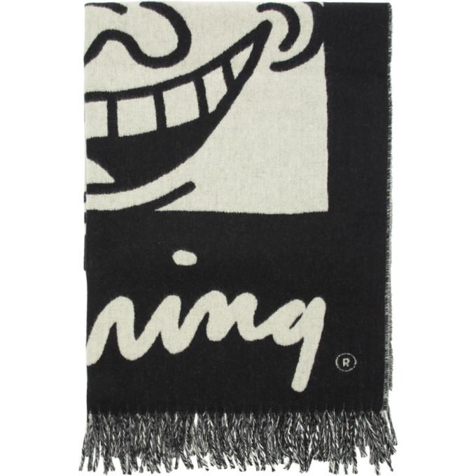 Etudes Foulard noir et blanc Magnolia edition Keith Haring