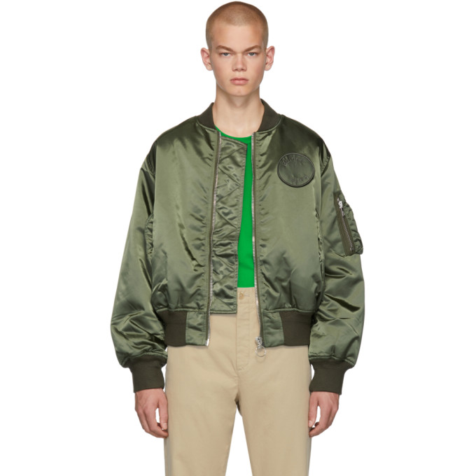 Etudes Studio Jackets ETUDES GREEN HORIZON BOMBER JACKET