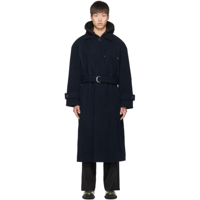 Etudes Studio Coats ETUDES BLUE WOOL COVER COAT