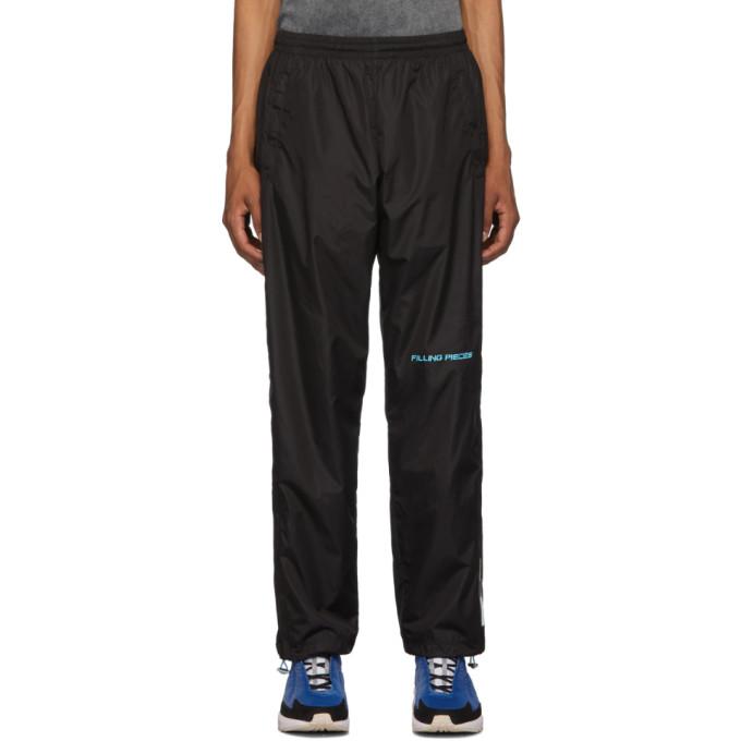 Filling Pieces Pantalon noir Diagonal Sport