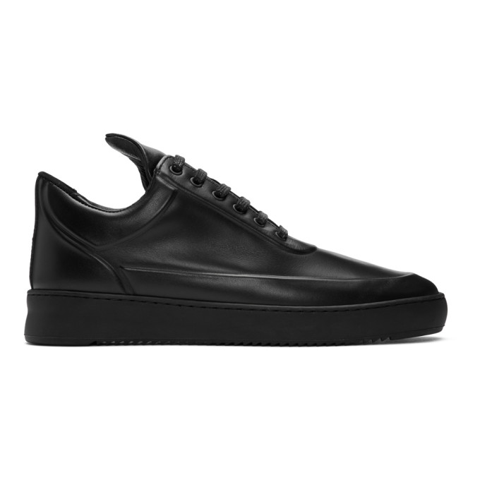 Filling Pieces Baskets embossees noires Ripple