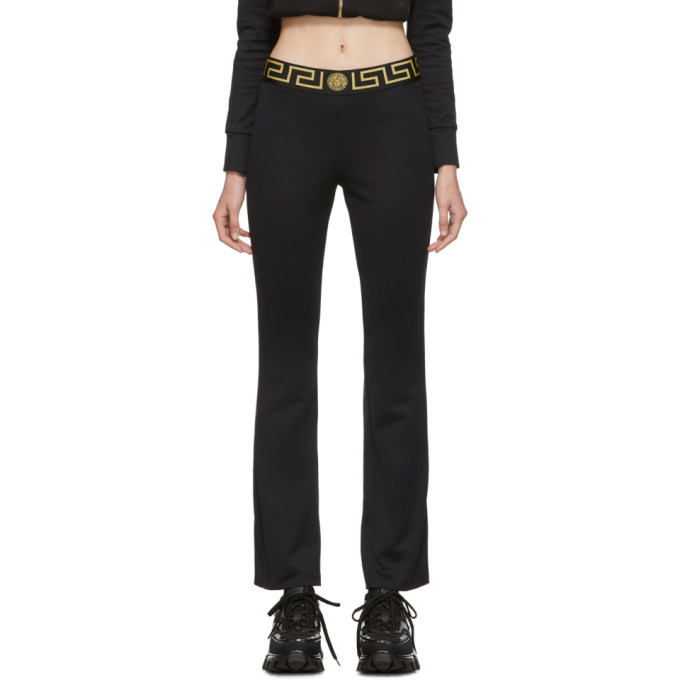Versace Underwear Black Greek Key Lounge Pants In A1008 Black