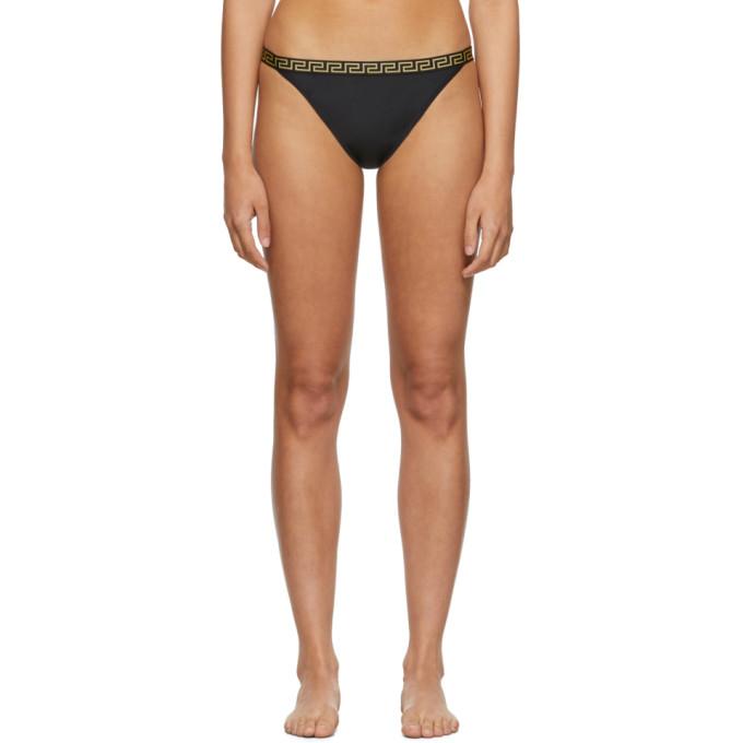 Versace Underwear Culotte de bikini noire Small Empire