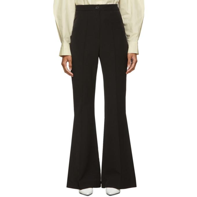 Low Classic Pantalon a jambe droite noir