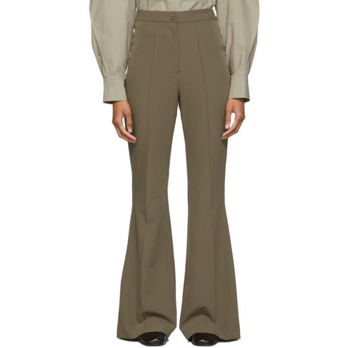 Low Classic Pantalon a jambe droite brun