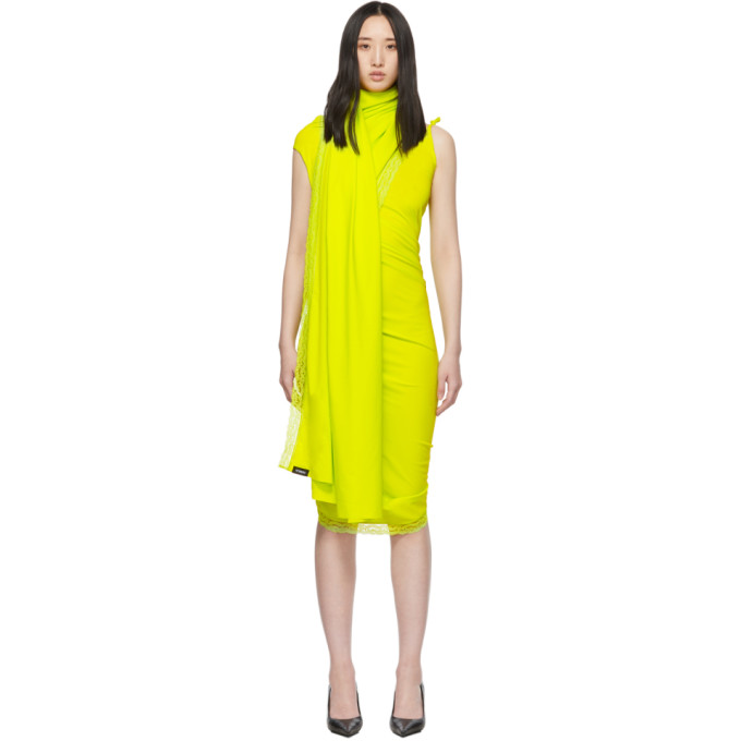 Vetements Dresses VETEMENTS YELLOW LINGERIE WRAP DRESS