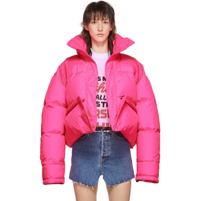 3ef5d3c07 Vetements Pink Down Puffer Jacket in Fluo Pink