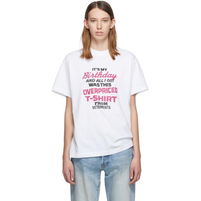 VETEMENTS | Vetements White Birthday T-Shirt | Goxip