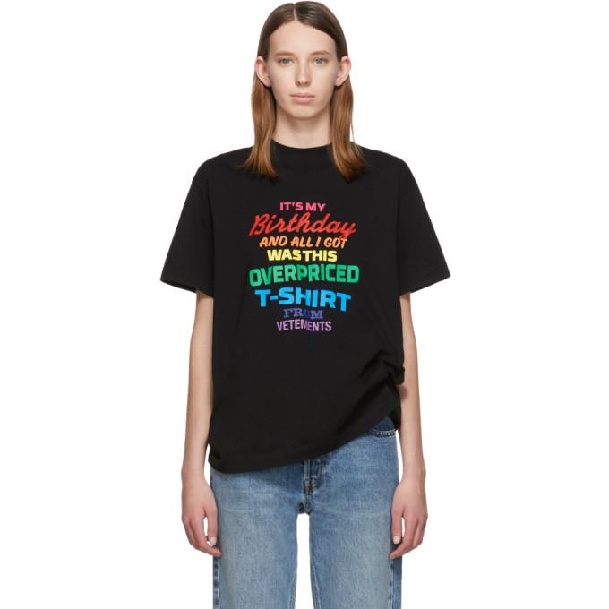 VETEMENTS | Vetements Black Birthday T-Shirt | Goxip