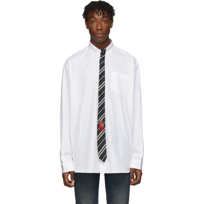 VETEMENTS Chemise blanche Tie