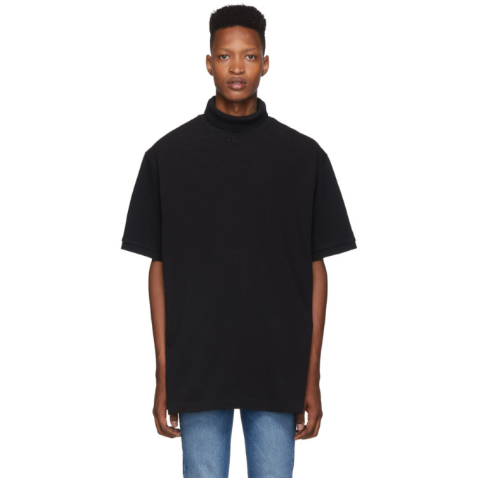 Vetements Tops VETEMENTS BLACK POLO TURTLENECK