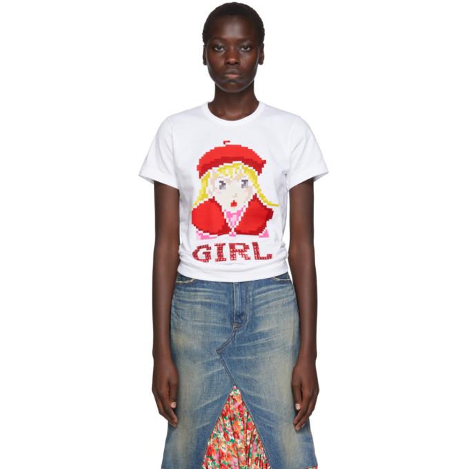 Comme des Garcons Girl T-shirt blanc Beret Girl