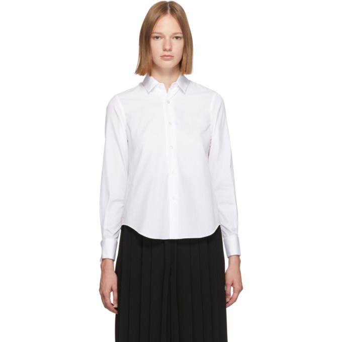 Noir Kei Ninomiya Chemise en coton blanche Cufflink