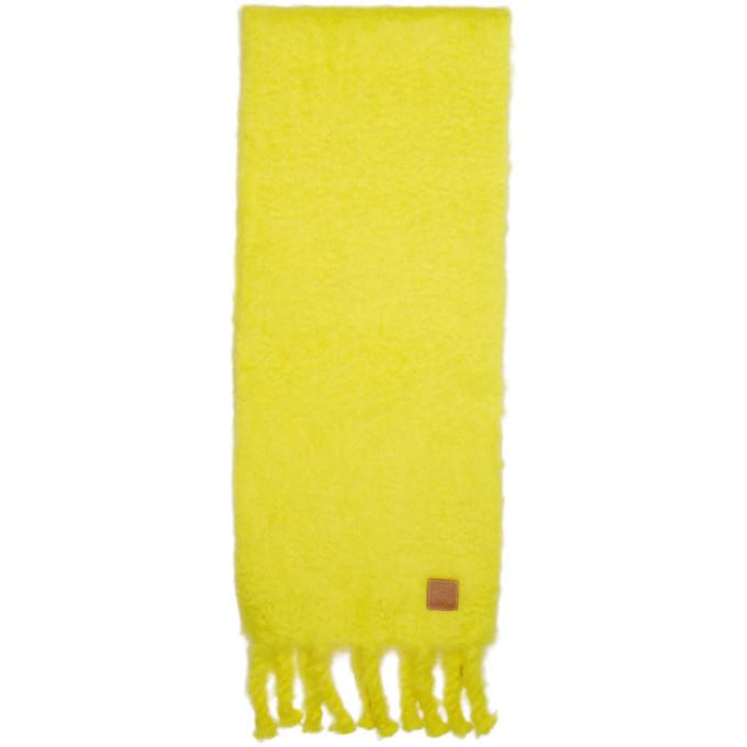 Loewe Foulard en mohair jaune