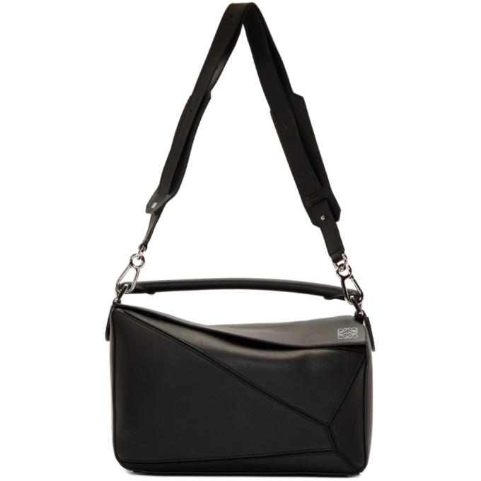 LOEWE | Loewe Black Puzzle Bag | Goxip