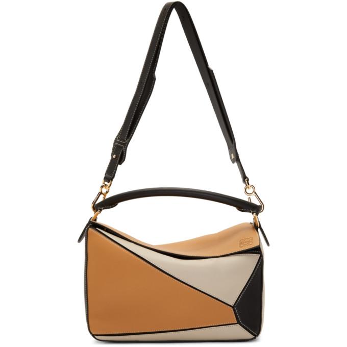 LOEWE | Loewe Tan And Black Puzzle Bag | Goxip
