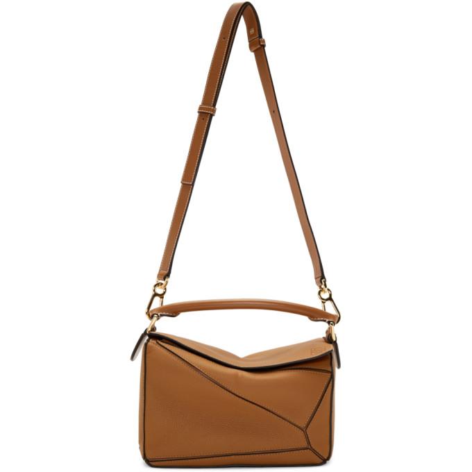 LOEWE | Loewe Tan Small Puzzle Bag | Goxip