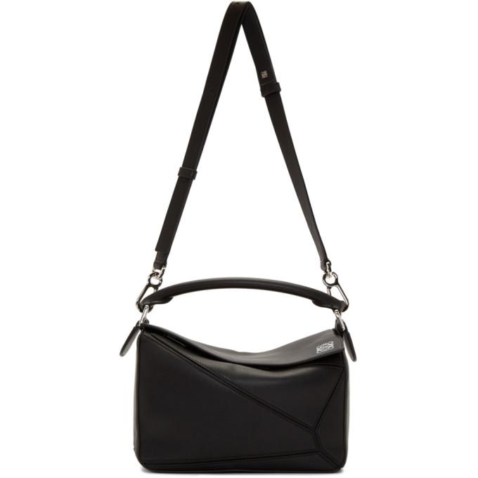 LOEWE | Loewe Black Small Puzzle Bag | Goxip
