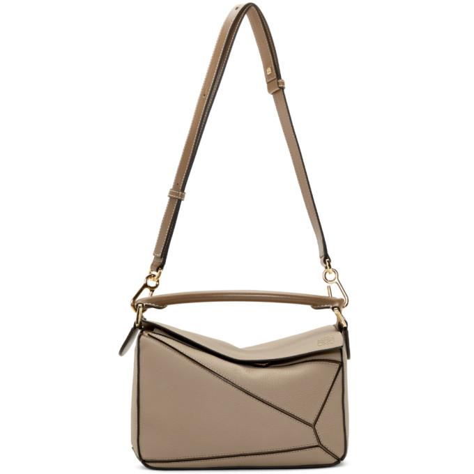 LOEWE | Loewe Taupe Small Puzzle Bag | Goxip