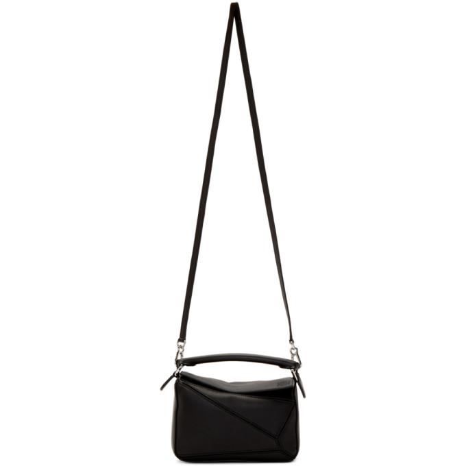 LOEWE | Loewe Black Mini Puzzle Bag | Goxip