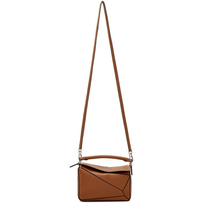 LOEWE | Loewe Tan Mini Puzzle Bag | Goxip