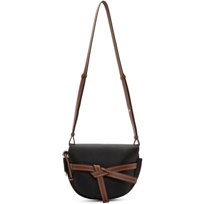 LOEWE | Loewe Black And Brown Small Gate Bag | Goxip