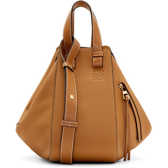 LOEWE | Loewe Tan Small Hammock Bag | Goxip