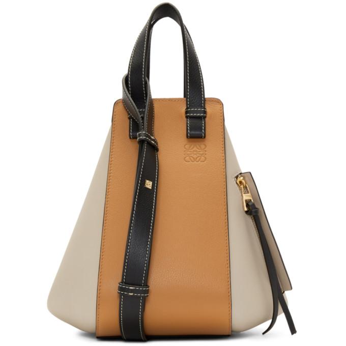 LOEWE | Loewe Black And Taupe Small Hammock Bag | Goxip