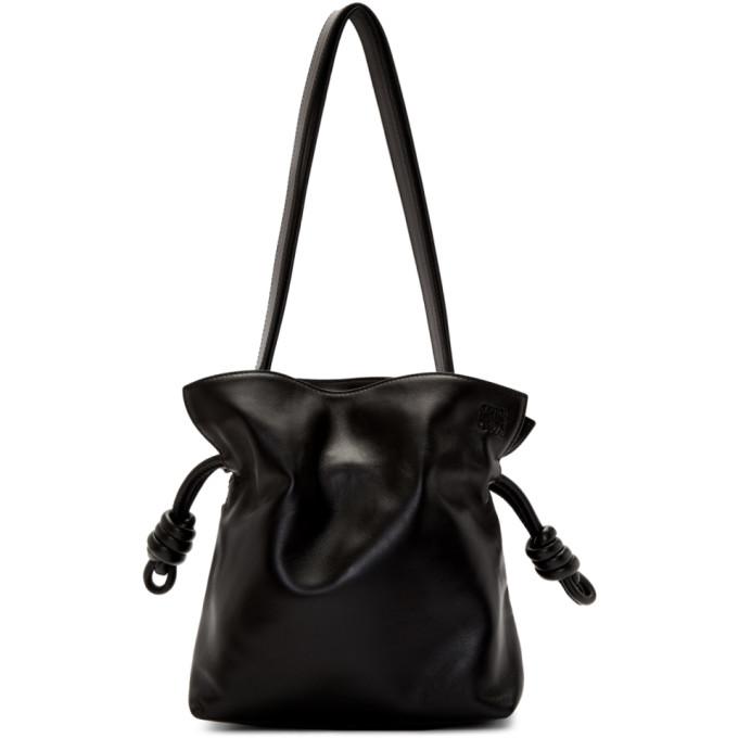 LOEWE | Loewe Black Small Flamenco Knot Bag | Goxip