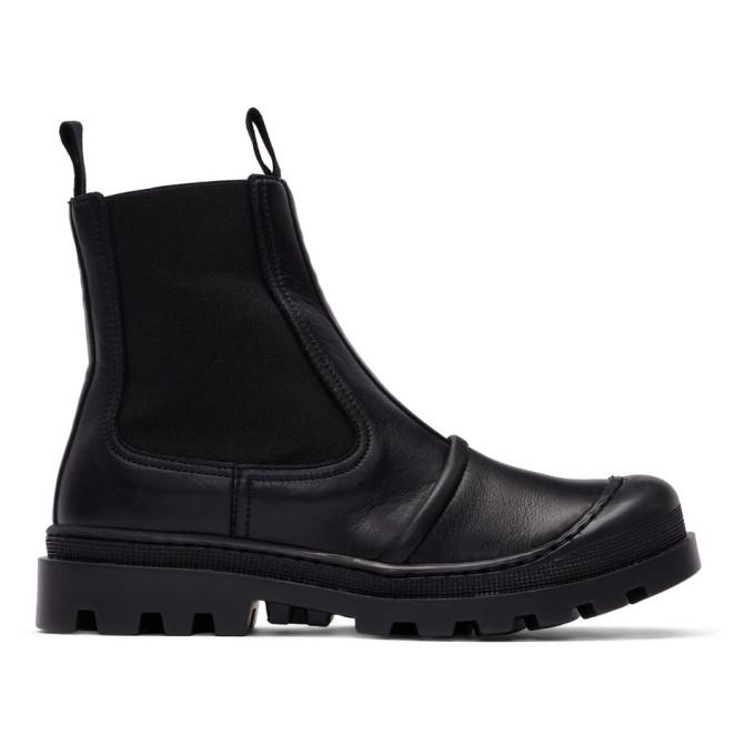 Loewe Black Chunky Chelsea Boots